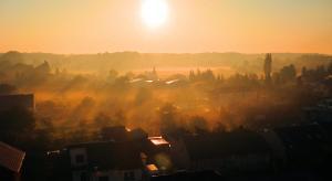 Litovel v ranní mlze