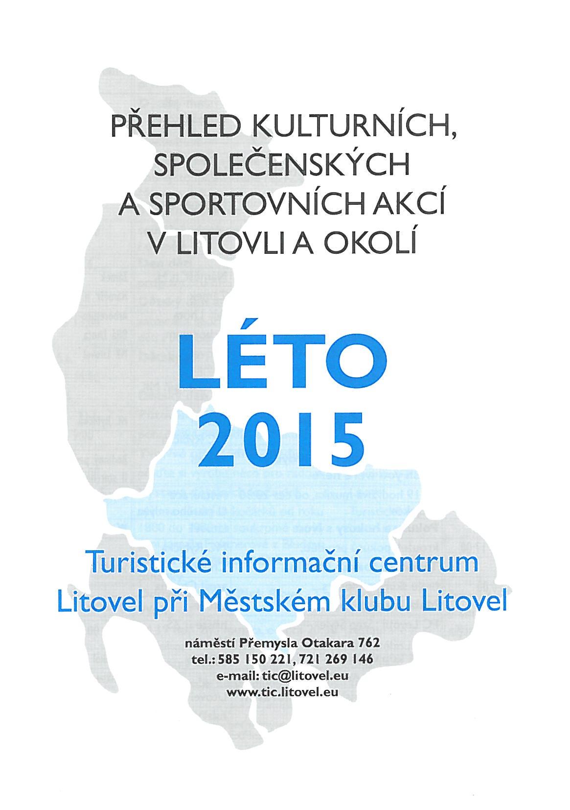 Přehled akcí na léto 2015, obrázek se otevře v novém okně