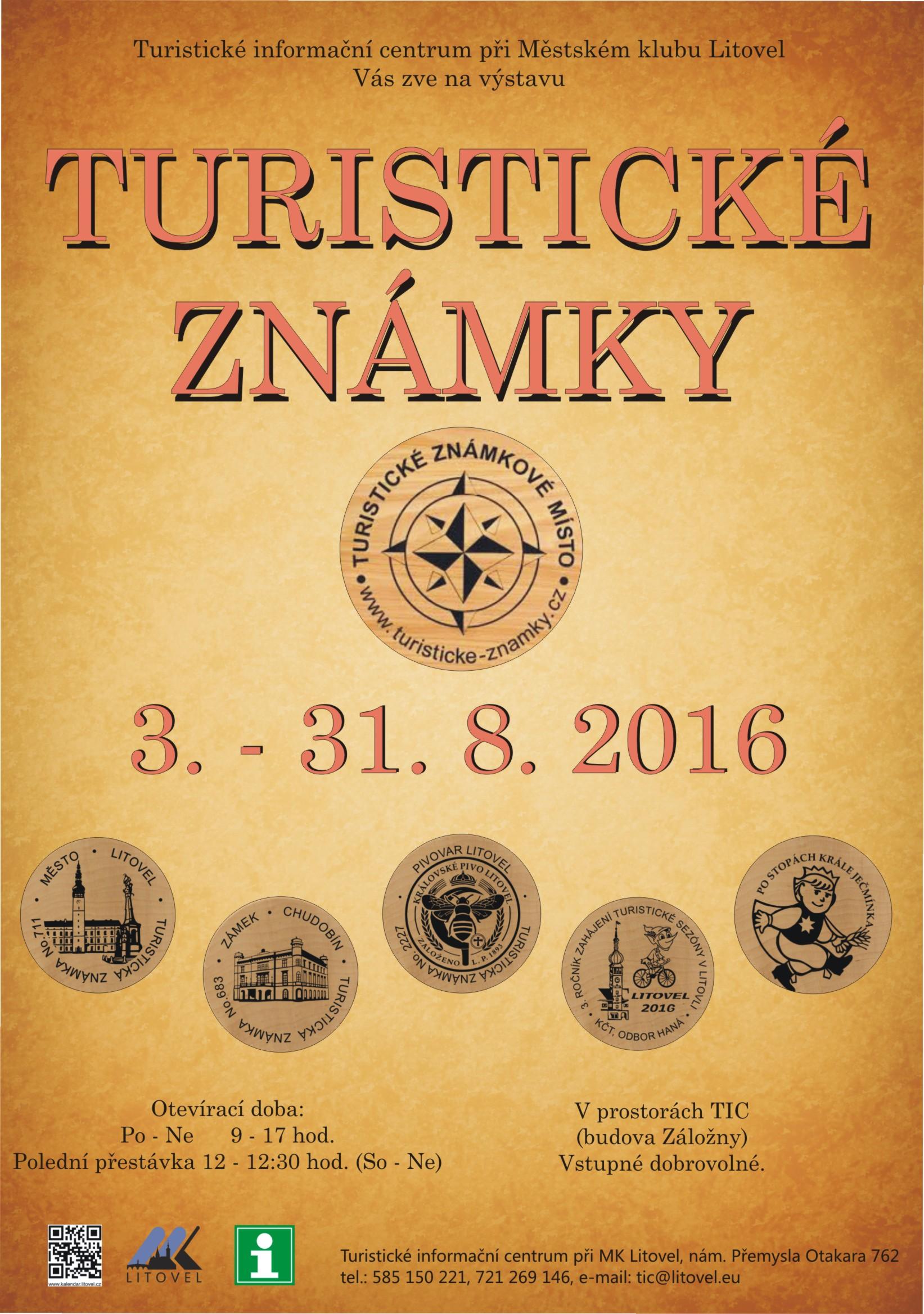 Výstava turistických známek, obrázek se otevře v novém okně